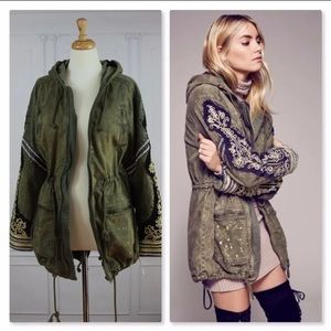 Free People Golden Quills Military Parka Jacket🌿